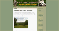 Preview of cedarridgecampground.net