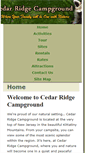 Mobile Preview of cedarridgecampground.net