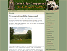 Tablet Preview of cedarridgecampground.net